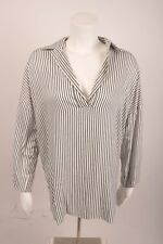 Zara Women's Blouse Tunic Small Black White Striped Oversized 7918/781 NWOT