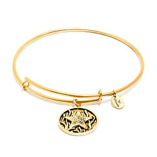 Chrysalis Starfish Expandable Bangle in 14k Gold Plate, CRBT0604GP