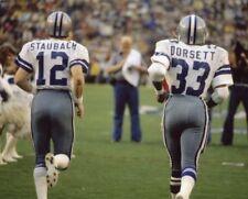 ROGER STAUBACH & TONY DORSETT 8X10 PHOTO DALLAS COWBOYS PICTURE NFL FOOTBALL