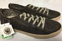 Sanuk Staple TX Black Coated Canvas Lace Up Shoes Oxfords 1013952 Men's Sneakers