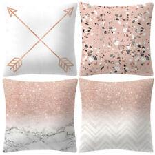 Throw Pillow Covers Set of 4 Sofa Decor Velvet Cushion Cases Pink