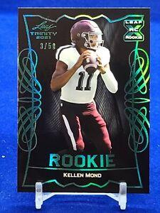2021 Leaf Trinity #RB-18 Kellen Mond RC Rookie Vikings /50