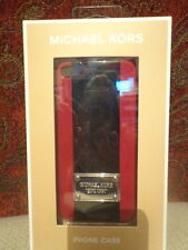 MICHAEL Michael Kors iPhone 5 Hard Case/Cover, Striped - Scarlet/Black
