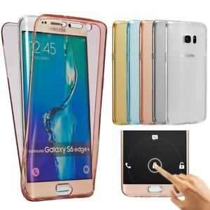 SAMSUNG Galaxy Clear Case GOLD 360° S6 S6e S6e+ S7 S7+ S8 S9 S10 S10+ PLUS EDGE