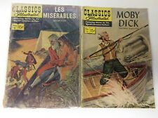 CLASSICS ILLUSTRATED #5 #9 (GILBERTON/MOBY DICK/LES MISERABLES/061838) SET OF 2
