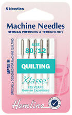 Size 90/14 Sewing Machine Needle - Klasse Quilting Needles - Pack 5