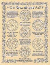 """""""HEX SIGNS"""" Parchment Page for Book of Shadows, Altar!"""