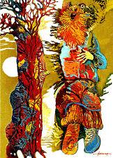 ACEO / Peasant song / LE Print of Original Painting by Ljuba Hahonina
