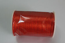 Rust red 10yd Satin Rattail Cord 2mm nylon jewelry macrame kumihimo beads