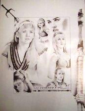 XENA WARRIOR PRINCESS - GABRIELLE - ART PRINT DRAWING POSTER 18 X 23 - RARE