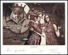 Naidenov Hristo 2014 Exlibris C3 Queen of Spades king Jester Woman Erotic 107