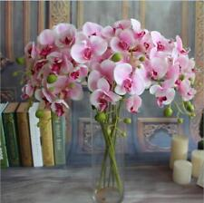 UP Butterfly Orchid Silk Flower Wedding Bouquet Phalaenopsis Home Decor