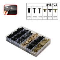 848pcs Car Clips Plastic Fastener Fir Tree Push Type Retainer Assortment Kit Top