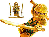 LEGO NINJAGO GOLDEN NINJA LLOYD MINIFIGURE GOLD DRAGON SWORD DIMENSIONS TEMPLE