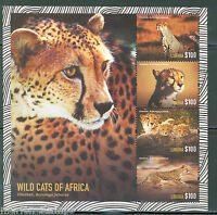 LIBERIA  2015 WILD CATS OF AFRICA  SHEET   II  MINT NEVER HINGED