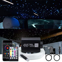 AKEPO 16W Fiber Optic Lights Star Ceiling Light Kit APP Control for Car & Cable