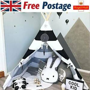 Kids Teepee Tent with Carry bag Foldable Play Tent for Indoor Outdoor