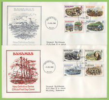 Bahamas 1980 Definitive set on four First Day Covers