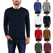 Maglia da Uomo Slim Fit Girocollo Maglione Pullover maglione S M L XL