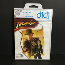 Didji Indiana Jones Math Facts Learning Game Grade 2-4 Age 7-10 Leap Frog Tested