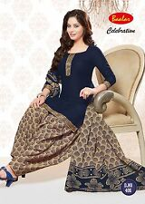 Salwar Kameez Patiala Indian Unstitched Dress Material  Punjabi Ethnic Wear 406