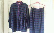 Robert Janan by Eva size 16 knit top & skirt