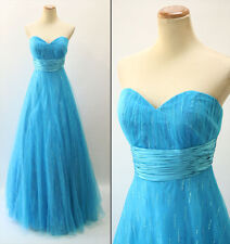 NWT Jovani Size 6 Prom Formal Evening Long $400 Ball Gown Dress Blue Strapless