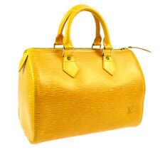 LOUIS VUITTON SPEEDY 25 HAND TOTE BAG YELLOW EPI PURSE M43019 VI0964 BT14373g