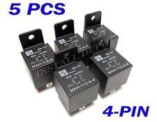 5 PK PREMIUM SPST 40 AMP AUTOMOTIVE RELAYS 4-PIN SINGLE POLE 12V AUTO SWITCH
