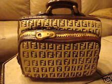 FENDI BANK SO RARE!!! VINTAGE ESTATE FIND piggy bank brown tan collectors item
