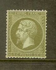 """FRANCE STAMP TIMBRE N° 19 """" NAPOLEON III 1c OLIVE """" NEUF xx TB A VOIR"""