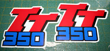 Logo  Yamaha TT 3501998 blu/rosso cristal  - adesivi/adhesives/stickers/decal