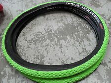 Halo TWIN RAIL TYRES (PAIR) Mountain Bike (Puncture Resistant) TYHAT62 GREEN 26""