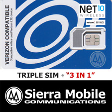 NET10 Triple SIM MINI + MICRO + NANO • CDMA 4GLTE • Verizon Network MVNO • NEW