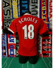 Maglia Calcio Manchester United 2004/06 Scholes Shirt Trikot Camiseta Maillot