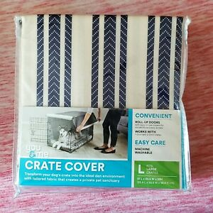You & Me Crate Cover For Large Crates Blue Stripes