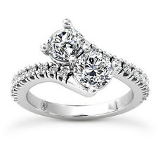 Mothers Day Gifts For Her 1.14 Carat Diamond Ring Round Cut 14k White Gold