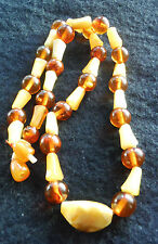 Vintage Natural Authentic Baltic Amber Butterscotch Honey Bead Necklace