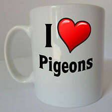 I Love Heart Pigeons Mug Gift Christmas Present Pigeon Lover Fancier Birthday