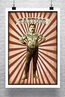Tattoos Vintage Tattooed Strong Man Art Rolled Canvas Giclee Print 24x34 in.