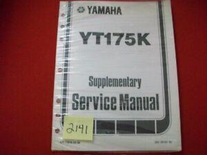 SEALED FACTORY ISSUED 1982-83 YAMAHA ATV YT175K SUPPLEMENTARY SERVICE MANUAL