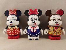 """Minnie Mouse Eachez Variant and Common Disney Vinylmation 3"""" Figure Set"""