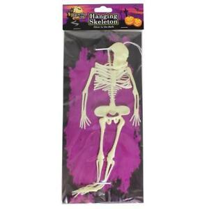 Decorazione Festa Halloween 30.5cm Si Illumina Al Buio Plastica Scheletro
