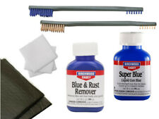 """Birchwood Casey Blue and Rust Remover Super blue Two Brushes 3"""" Patches & Pads"""