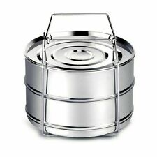 Stackable Stainless Steel Steamer Cooker Insert Pans for Instant Pot 5/6/8 Qt