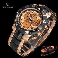 Invicta 50mm Subaqua Poseidon 18kt Rose Gold Plated Chronograph Bracelet Watch