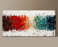 "24x48"" Modern Abstract Art Hand-painted Oil Painting on canvas,NO Frame"