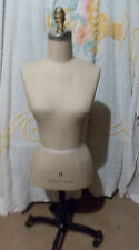 Vintage Superior Model 1939 #8 Dress Form Mannequin with Cast Iron Base