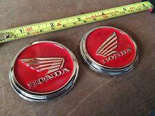 honda logo emblem tank red wing cafe racer bobber universal cust NEW
