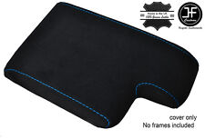 BLUE STITCHING PU SUEDE ARMREST COVER FITS BMW 3 SERIES E36 1991-1999